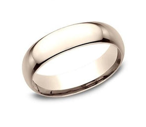 14K Comfort Fit Polished 6mm Band