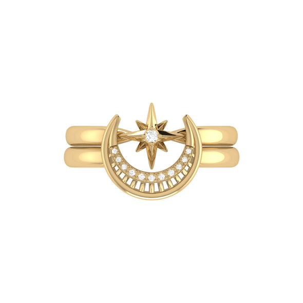 Nighttime Lovers Detachable Ring in 14 KT Yellow Gold Vermeil on Sterling Silver
