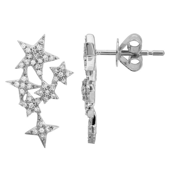 Petite Diamond Celestial Earrings