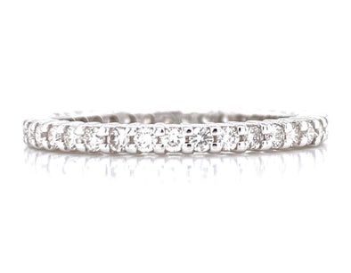 14K White Gold 0.62ct Diamond Eternity Band