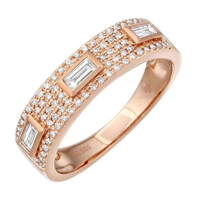 Diamond Band with Baguette Accents