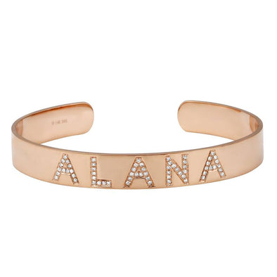 14K Rose Gold Personalized Bangle