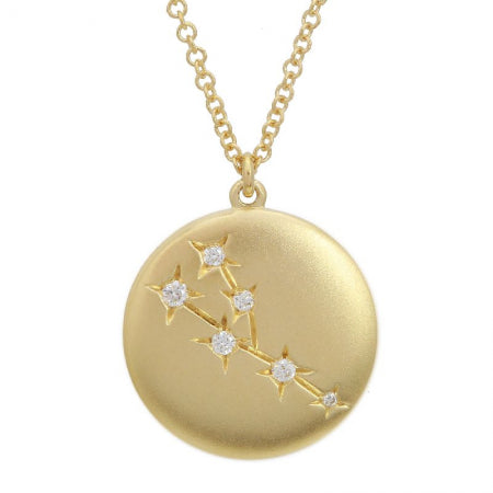 14K Yellow Gold Zodiac Pendant