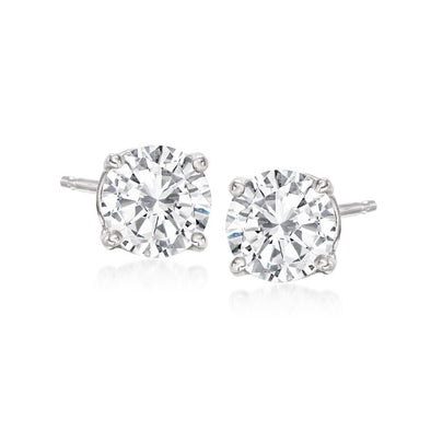 1.5 Carat Diamond Stud Earrings