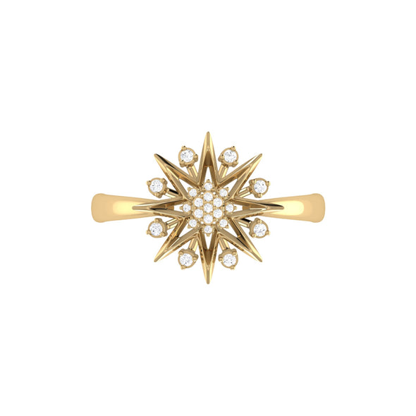 Supernova Ring in 14 KT Yellow Gold Vermeil on Sterling Silver