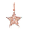 14K Rose Gold Diamond Engraved High Polished