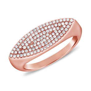 14K Rose Gold Diamond Pave Ring