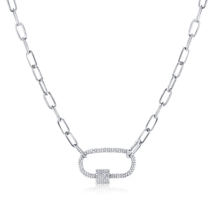 14K 1.26Ct Full Diamond Pave link Necklace
