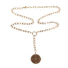 14K Rose Gold Diamond Open Link Compass Necklace
