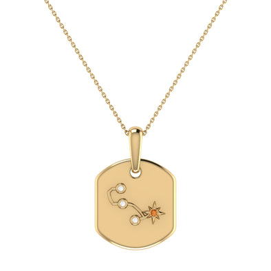 Constellation Tag Pendant Necklace in 14K Yellow Gold Vermeil