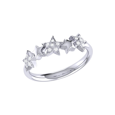 Sparkling Starry Lane Ring in 925 Sterling Silver