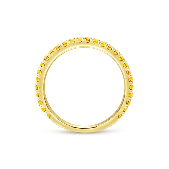 14K Yellow Gold Citrine Band