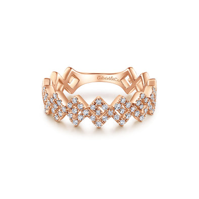 14K Rose Gold Diamond Fashion Band