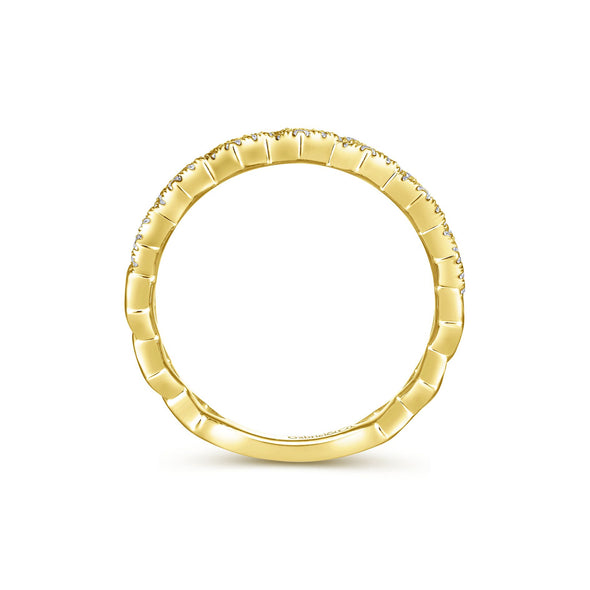 14K Yellow Gold Diamond Fashion Band