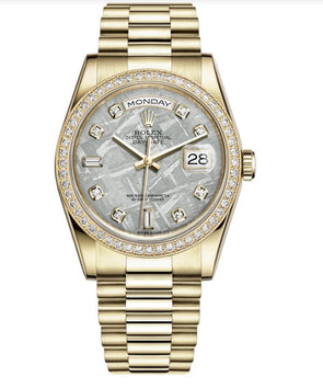 Rolex 36Mm 18K Yellow Gold Day-Date Watch