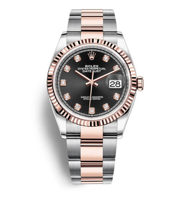 Rolex 36Mm Oystersteel & 18K Everose Datejust Watch