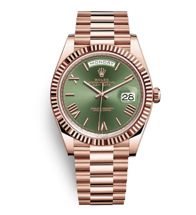 Rolex 40Mm 18K Everose Day-Date Watch