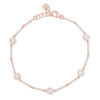 14K Rose Gold Diamond Halo Station Bracelet