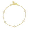14K 0.82Ct Diamond Halo Station Bracelet