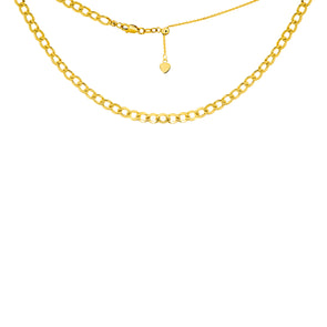 14K Yellow Gold Plain Curb Link Choker