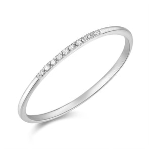 14K White Gold Diamond Top Band