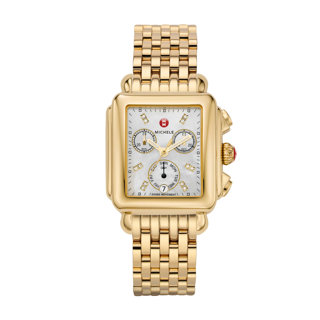 Signature Deco Gold, Diamond Dial Watch