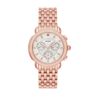Sidney Pink Gold Diamond Watch
