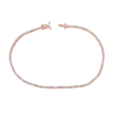 14K Rose Gold Diamond Petite Tennis Bracelet