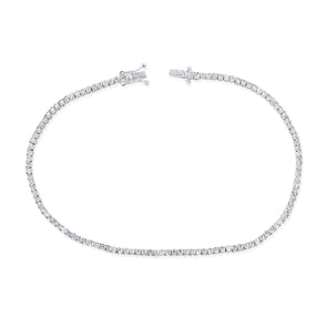 14K White Gold Diamond Petite Tennis Bracelet