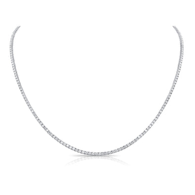 14K White Gold Diamond Tennis Necklace