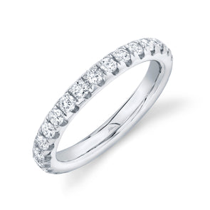 14K White Gold 1.11Ct Diamond 3.11 MM Eternity Band