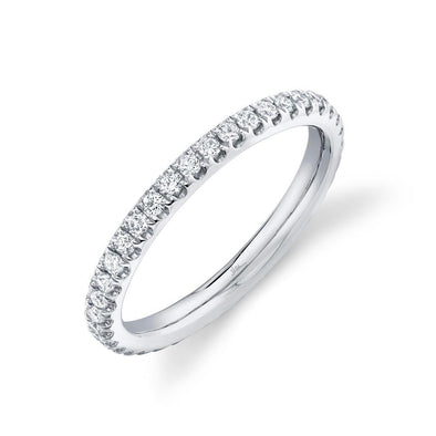 14K White Gold Diamond 2.4mm Eternity Band