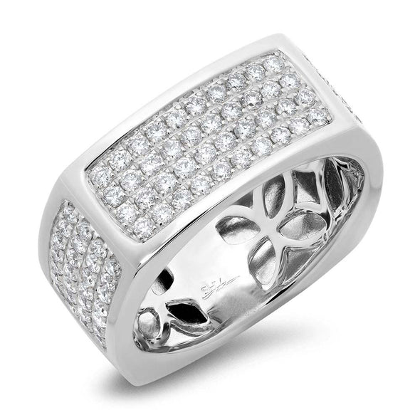 14K White Gold Diamond Pave Ring