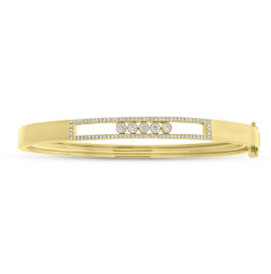 Diamond Slider Bangle