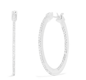 Diamond Accented Hoop Earrings