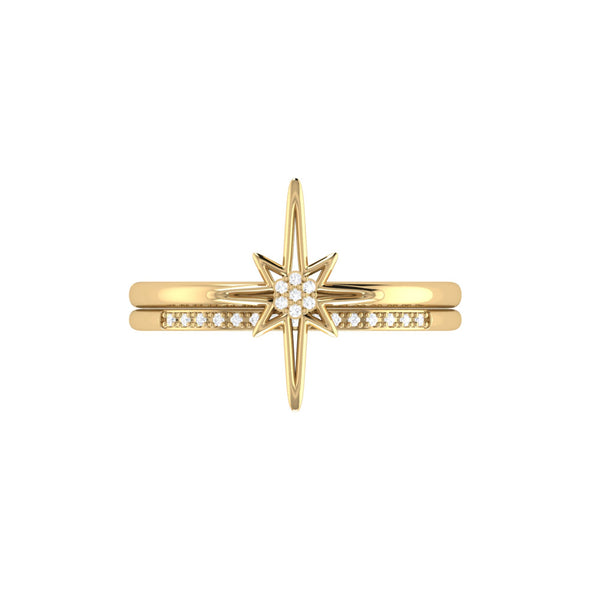 North Star Detachable Ring in 14 KT Yellow Gold Vermeil on Sterling Silver