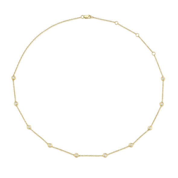 14K Yellow Gold Diamonds By The Yard Chain