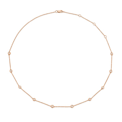 14K Rose Gold Diamonds By The Yard Chain