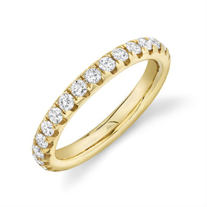 14K Yellow Diamond 1.18ct eternity band 3.1mm