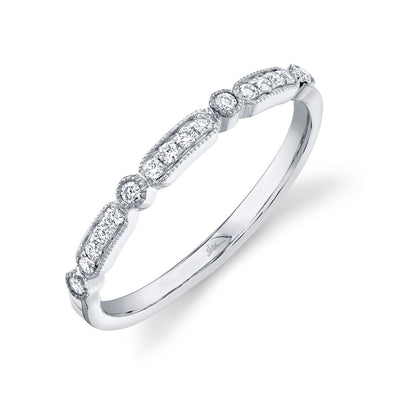 14K White Gold Diamond Lady's Ring
