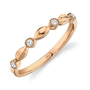 14K Rose Gold Diamond Lady's Ring
