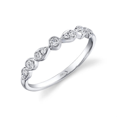 14K White Gold Stackable Diamond Ring