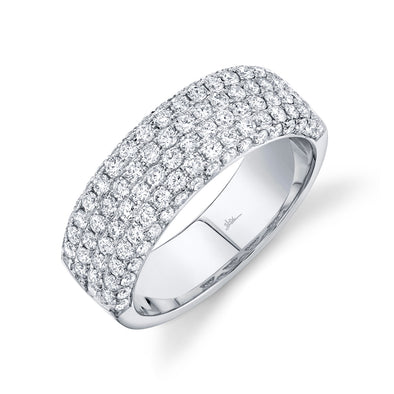 14K White Gold Diamond Lady's Pave Band