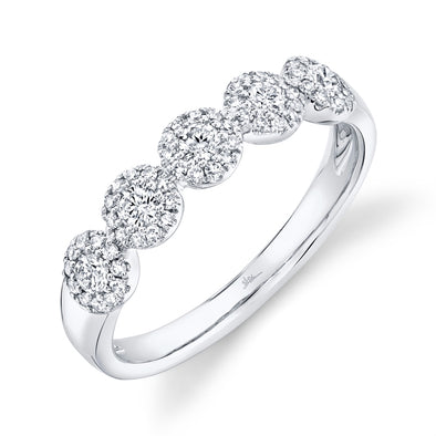 14K White Gold Diamond Halo Band