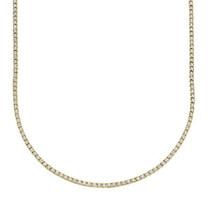 14K Yellow Gold Diamond Small Tennis Necklace