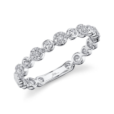 14K White Gold Diamond Circles Band