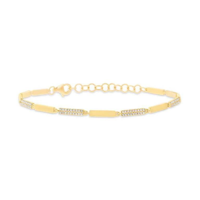 Alternating Diamond Link Bracelet