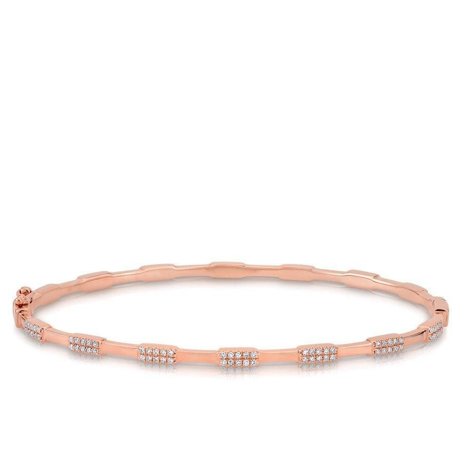 Alternating Diamond Stackable Bangle