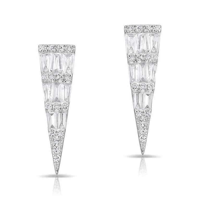 Baguette Diamond Dagger Earrings