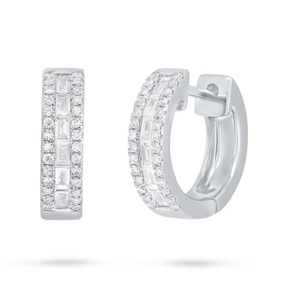 Baguette Diamond Huggie Earrings